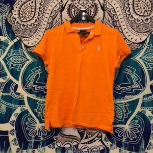 U.S. Polo Assn. Tops - Orange polo assn shirt